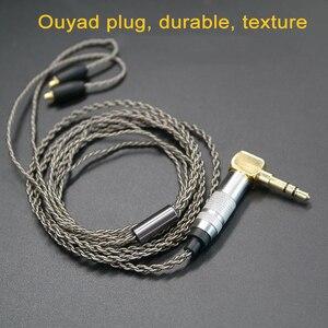 Image 5 - Upgrade DIY MMCX Earphone Stereo Bass HIFI Headphone Earbuds Ouyad Plug Silver Plating Line for Shure SE215 SE425 SE535 SE846