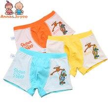 3 Pc/pack  Children's Underwear Cartoon Sheep Underwear Cotton Boy Boxer Underwear Comfortable Boy Panties b1TNM0077