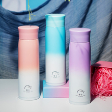 500ML Gradient Color InsulationThermos Bottle Stainless Steel Vacuum Flask Portable Travel Leak Proof Drinkware Thermos Cup