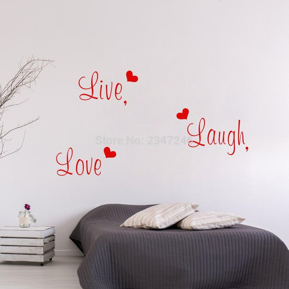 online get cheap live laugh love aliexpress com alibaba group diy live laugh love decorative quotes art lettering vinyl wall decal for home decor china