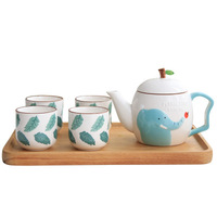 Ceramic Mug Cartoon 1 Pot 4 Cup Cute Teapot Teacup Set Home Office Coffee Milk Teapot Five piece