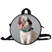 Cute Animal 3D Print Girls Round Backpack Pet Dog Children Baby School Bag Kindergarten Kids Small Rucksack Small Shoulder Bag