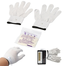 Good Quality Sexy Electric Shock Gloves Stimulation Kit For Adult Couple Fun Toy