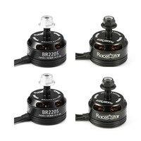 4PCS Racerstar Racing Edition 2205 BR2205 2300KV 2 4S Brushless Motor CW/CCW Black For QAV250 ZMR250 260 RC Drone Quadcopter DIY