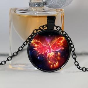 Image 2 - Starry Sky Beast Phoenix Constellation Twelve Gold Color Saint Seiya Glass Pendant Necklace Childrens Classic Comic Memory Gift