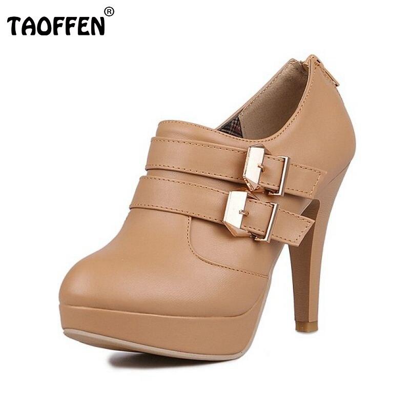 Women High Heel Ankle Boots Platform Winter Warm Botas Boot Buckle Pointed Toe Brand Sexy Footwear Heels Shoes Size 34-43 стоимость