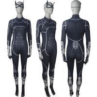 Women's Spider Man PS4 game Black Cat suit jumpsuit cosplay superhero Halloween costume X'mas Valentine's day birthday gift toys