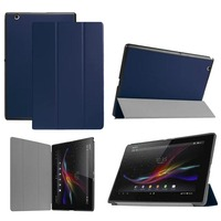 New Ultra Thin Slim Agnet Stand Pu Leather Case Cover For Sony Xperia Z4 10 1