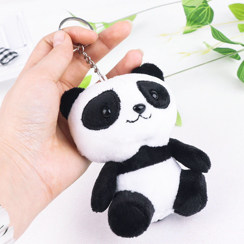 NEW Lover Panda 10CM Plush Stuffed Toys Doll - 4Colors Key Chain Ring Bag Pendant Plush Toys Wedding Gift Panda Plush Toy