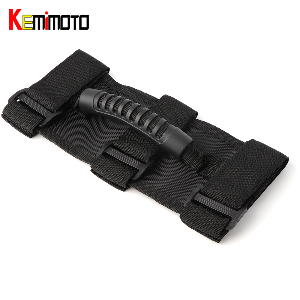 KEMiMOTO for Jeep Wrangler Roll Bar Mount Side Grab Handles Off Road Accessories JK CJ TJ VAN Auto Armrest Interior Car-Styling