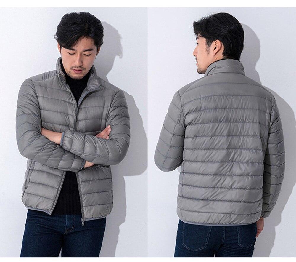 Dynamic 2018 Winter Men Jacket 90% White Duck Down Ultra Light Thin Jackets O Neck Slim Warm Coat Basic Outwear Windproof Parkas Discounts Sale Jackets & Coats