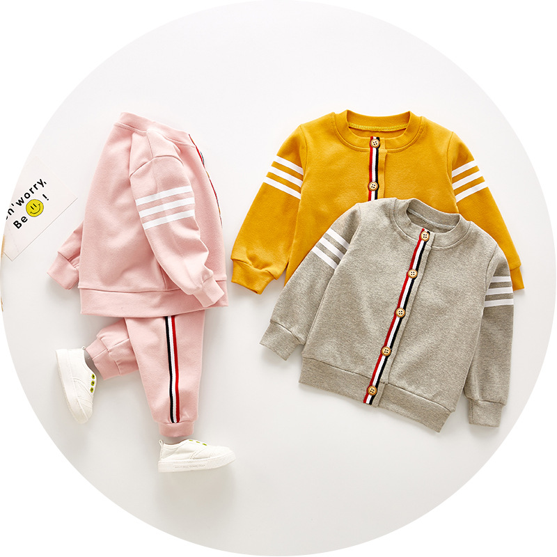 VTOM Spring Child Informal Units Child Cotton Lengthy-sleeved Jacket+pants 2pcs Tracksuit Child Boys Women Clothes Set CCSD1-2 Clothes Units, Low cost Clothes Units, VTOM Spring Child Informal Units Child...