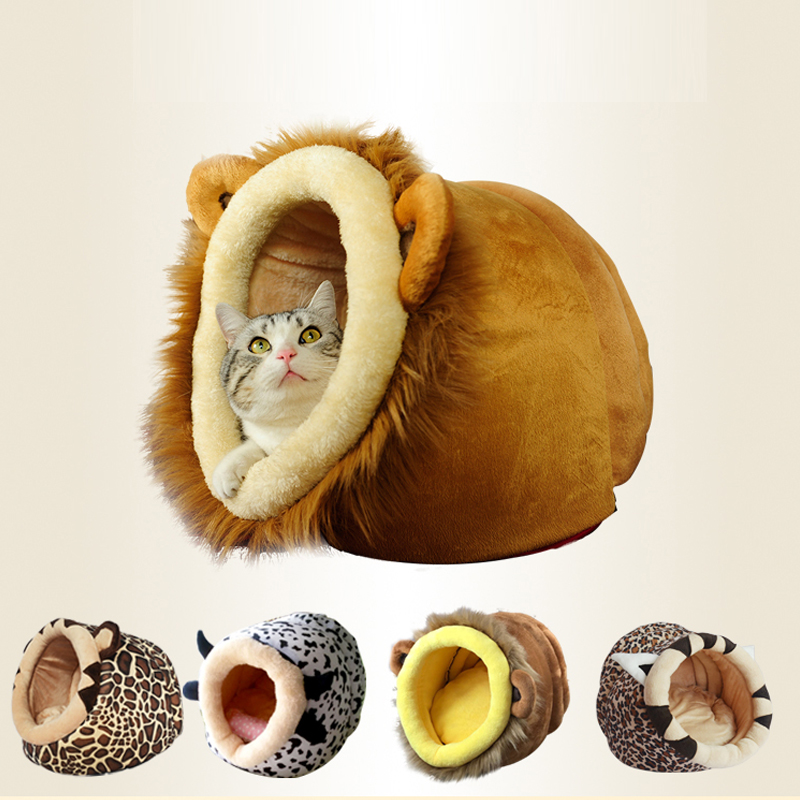 Warm House For Small Cat Sleeping Soft Home Pet Cats Bed Nest Washable Dogs Mat Pets Foldable Houses Bed Product