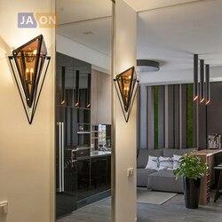 Led g9 Nordic bursztynowy Smoky szary żelaza szkło projektant lampa LED LED światła kinkiet kinkiet ścienny do sklepu Foyer sypialnia w Wewnętrzne kinkiety LED od Lampy i oświetlenie na