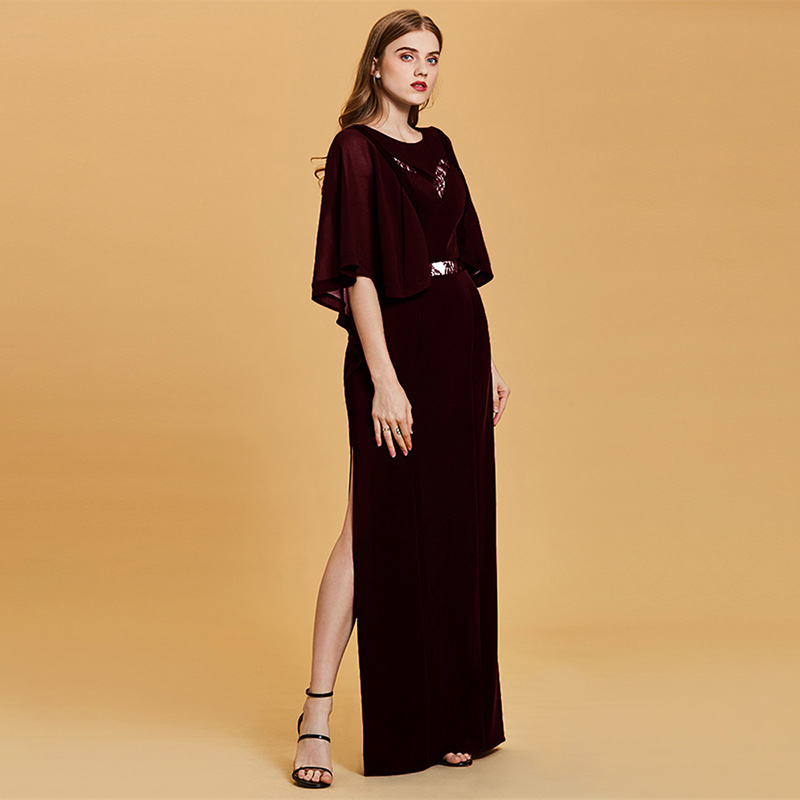 Купить с кэшбэком Tanpell fashion plus evening dresses hunter scoop a line floor length dress chiffon half sleeves lace long evening gown