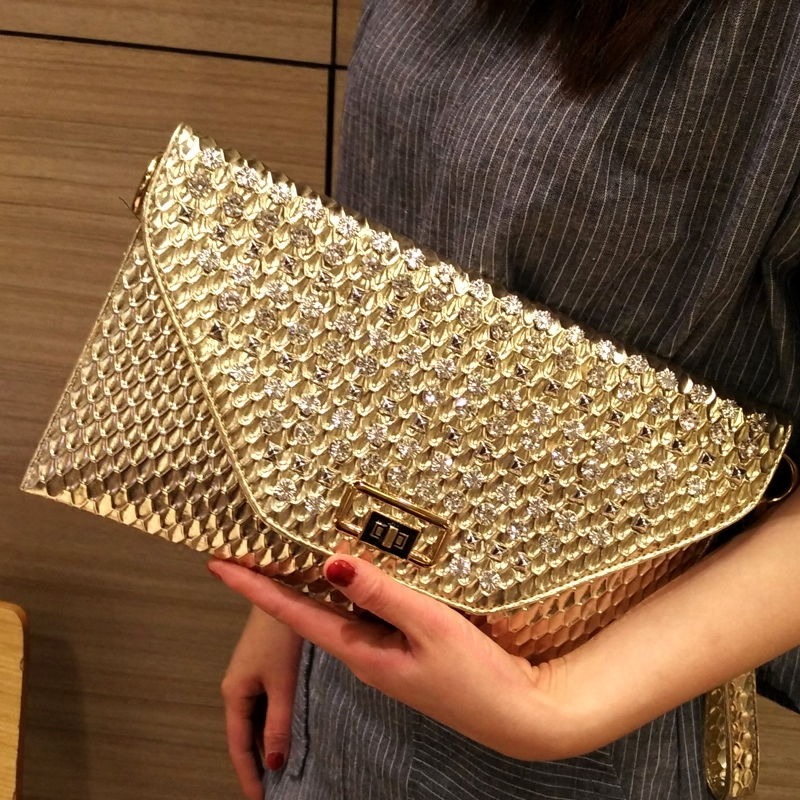 2017 Luxury Women Rhinestone Handbags Evening Party Clutch Bags Ladies Designer Purses female Crossbody bag Messenger Bags totes