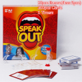 USA Hot Speak Out Board Game 200cards 10Braces 1Timers /set New Funny Say Watch Ya Mouth Friend Family Party Entertainment Toys
