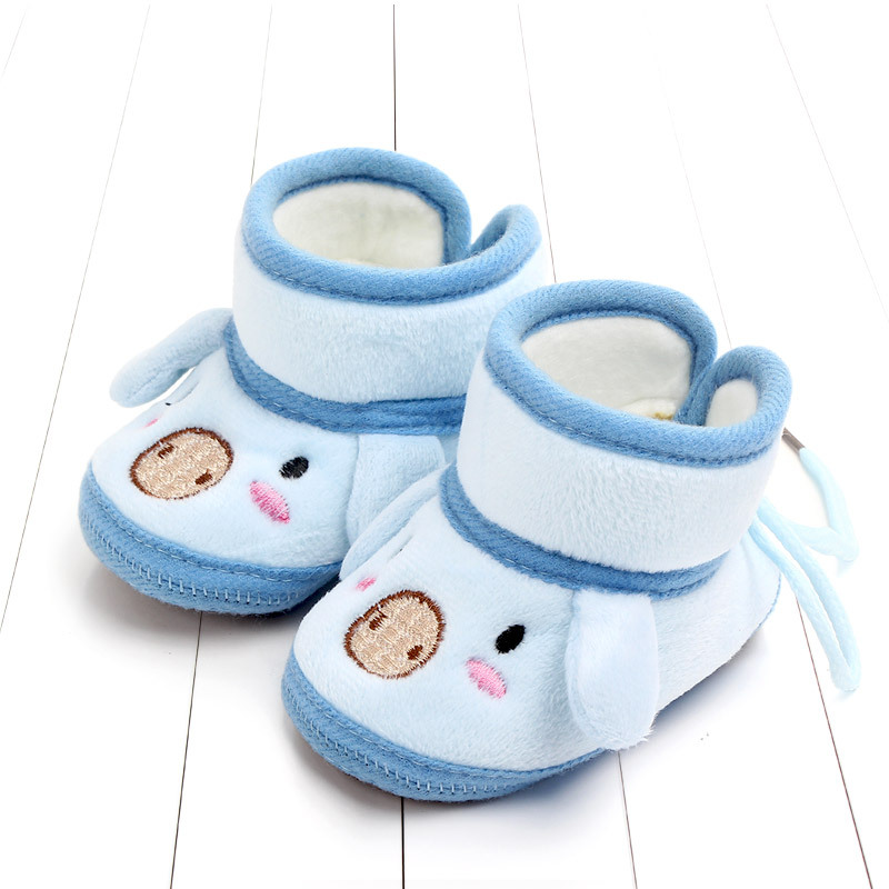 Indoor First Walkers Baby Shoes Cotton Anti-slip Booties Winter Wammer Baby Girl Boy Shoes Newborn Slippers Footwear Booties (16)