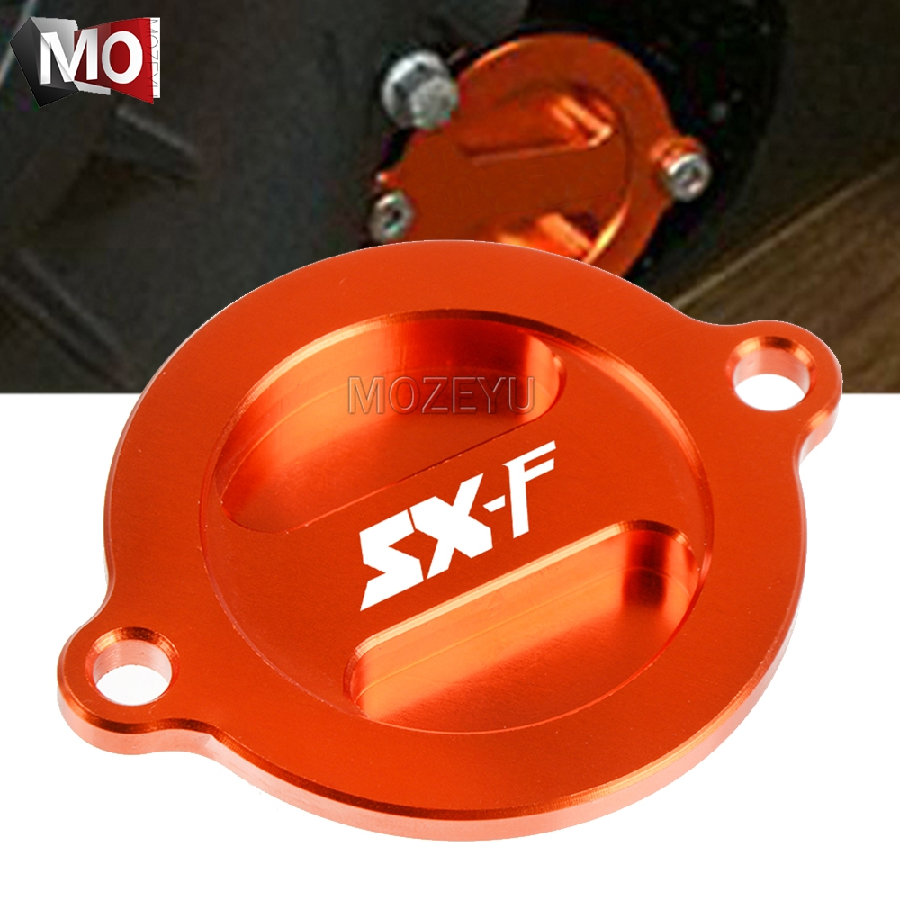 For KTM 450SXF 2013-2015 505SXF 2009 450 505 SXF SX-F ATV Motorcycle Accessories CNC Engine Oil Filter Pump Cover Protector