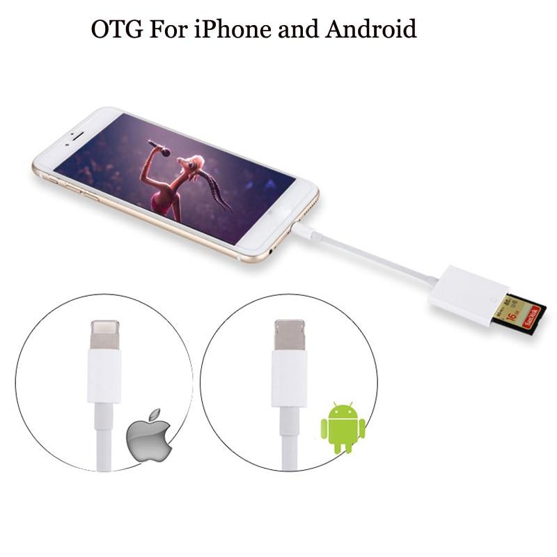 Card Reader Compatible OTG Data Cable Digital Camera Kit For iPad Apple