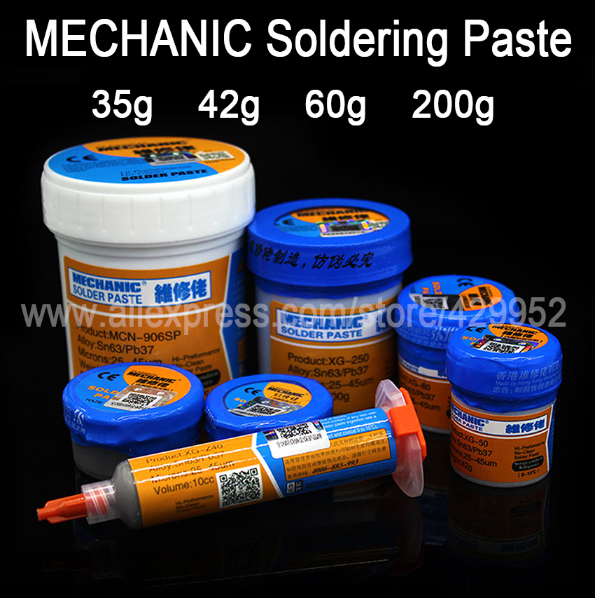 MECHANIC Soldering Flux Welding Paste Tin Cream Sn63/Pb37 For BGA Reball Stencil For iPhone Samsung Chip IC Repair припой mechanic 0 5mm
