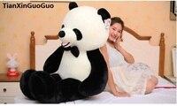 Сливочное игрушки огромный 140 см Прекрасный гигантская панда плюшевые игрушки бабочкой панды Мягкая кукла huging Подушка подарок на день рожд