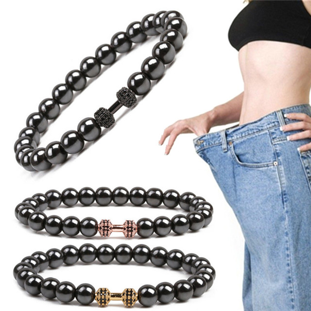 weight loss round stone magnetic therapy bracelet health care