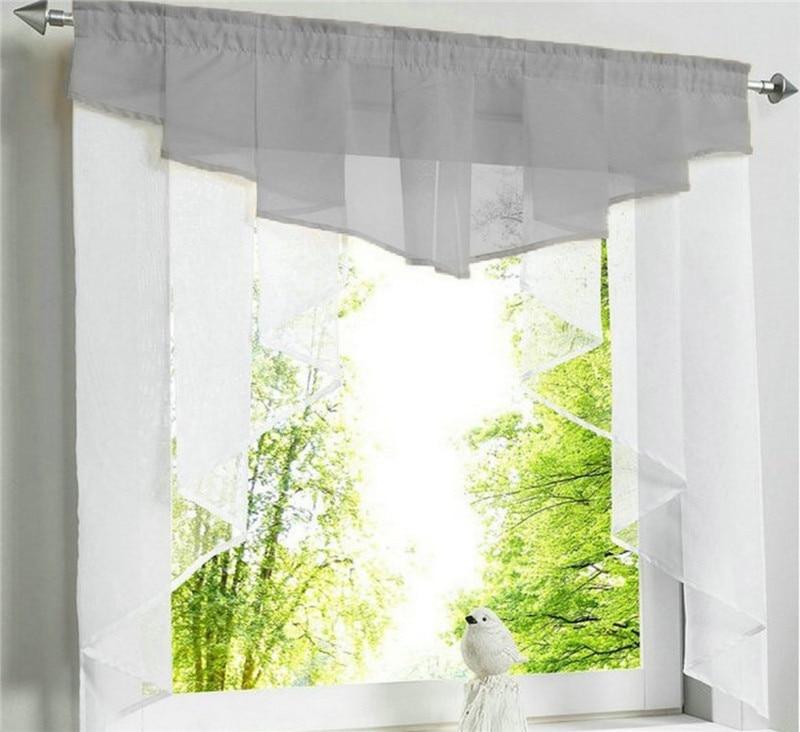 rideaux en voile plisse pour fenetre de cuisine
