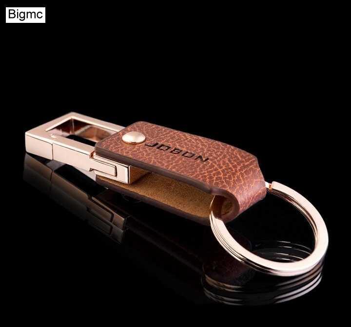 Nova moda de alta qualidade chaveiro flexível couro masculino topo do carro anel chave cintura pendurado cinto chaveiro melhor presente jóias 17128