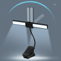 Hot Table Lamp Rechargeable Foldable LED Eye care Light with Clip for Reading Student PLD