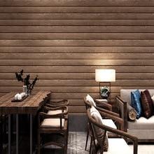 3d solid pvc wood texture Chinese imitation wood grain wallpaper wood color vintage wood plank ceiling attic ceiling wallpaper недорого