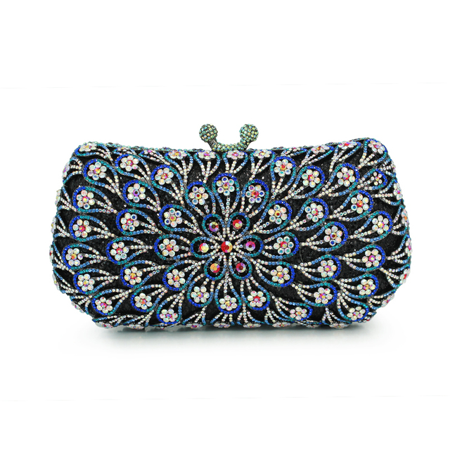 Blue Evening Bags For Women Fashion Brand Handmade Day Clutch New Party Crystal Handbags Clutches
