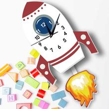 3D Cartoon Stickers Silent Wall Clocks For Children Living Room Home Decor