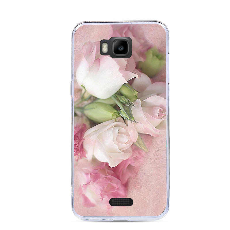 ソフト TPU ケース Huawei 社の名誉蜂 Y541 Y5C Y541-U02 4.5 インチカバーシリコーン素敵な塗装電話バッグ保護ケース塗装