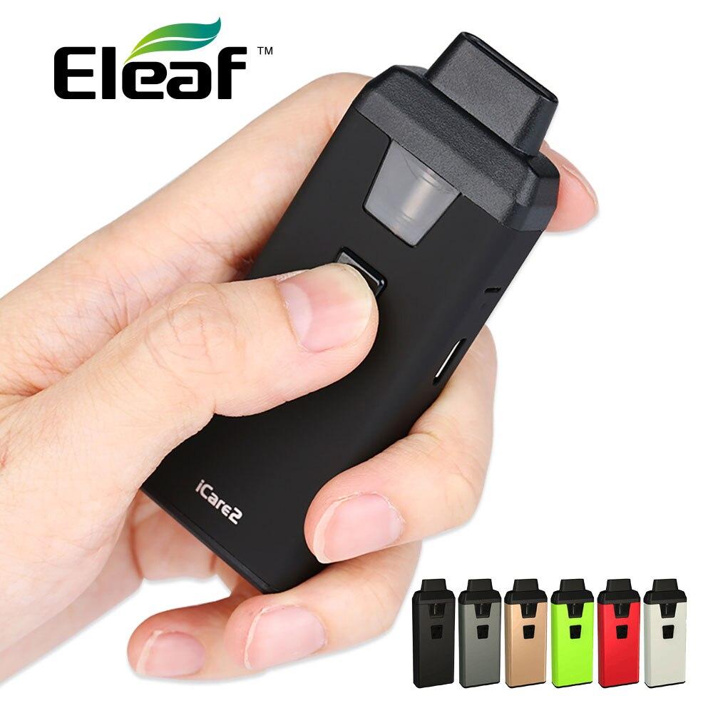 Originale Eleaf ICare 2 Starter Kit 650 mah Costruito in Batteria 2 ml Serbatoio Top Riempimento w/ew IC 1.3ohm Testa e cigs iCare 2 Vape Kit