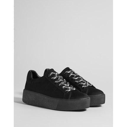 Noir 2019 Design Nouveau Tendance Printemps Sport Chaussures Épaisse Mode Et 1 Semelle De Dames Automne wzTqw
