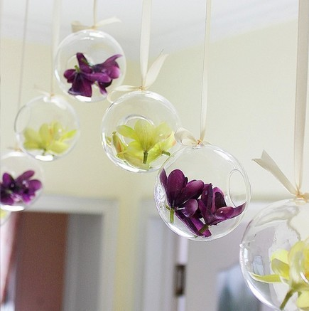 wholesale 4pcs*D10cm wedding crystal glass balls / hanging glass vase for wedding centerpieces / vases for home flowers