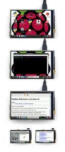 Image 3 - 3.5 pouce 480*320 écran tactile framboise Pi B/B + V3.0 Module daffichage à cristaux liquides de résistance de bouclier TFT avec le contrôleur du stylo tactile XPT2046