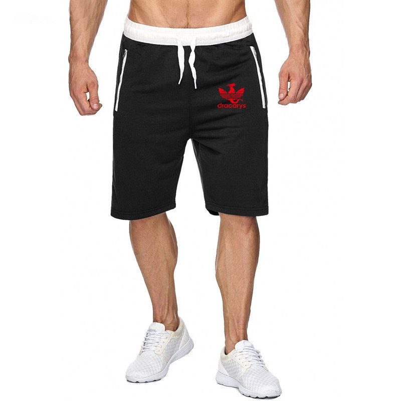 Summer Game Of Thrones Mens Jogger Sporting Thin Shorts Men Black Bodybuilding Short Pants Male Fitness Gyms Shorts For Workout