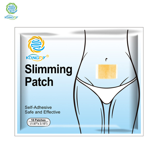 KONGDY Hot Sale Slimming Stick 100 Pieces=10 Bags Slimming Navel Sticker 5×8 cm Slim Patch Weight Loss Burning Fat Patch