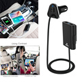 HAWEEL 1.8m Portable Car Charger 9.6A Max 4 Ports USB Extending USB HUB Passenger Front and Backseat Charging For Smartphones