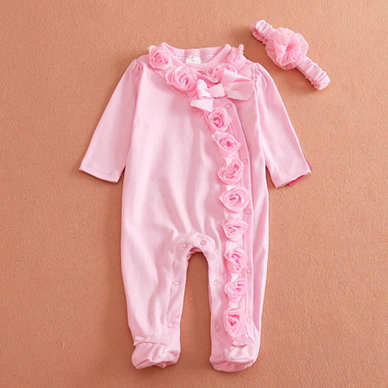 Retail spring/autumn baby girl clothes,new born baby girl romper, baby jumpsuit ,infant clothes, children clothing