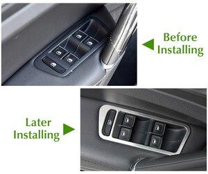Image 2 - Accesorios de acero inoxidable para coche, decoración Interior de puerta de cubierta de interruptor de ventana, embellecedores para Volkswagen VW Golf 7 MK7