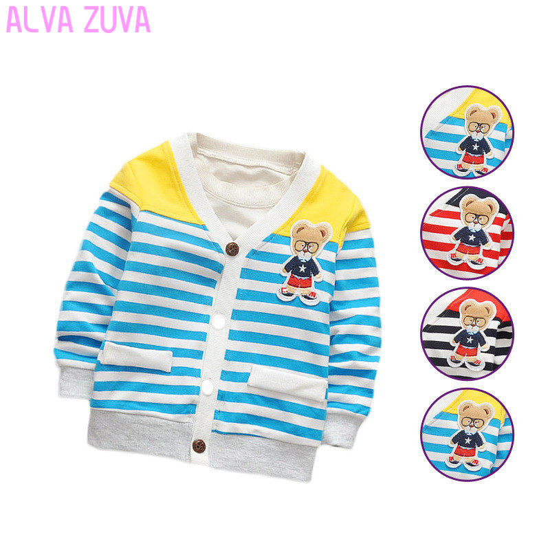New Arrival Baby sweater 2017 Autumn Kids Boys Girls Children knitted Sweaters Shirts Bear Teddy knit baby cardigan TN020