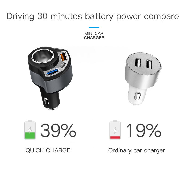 QC 3.0 USB Type C Car Charger (3)