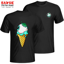 Double Sided Mint Eyeball Icecream T-shirt Zombie Pop Cool Casual T Shirt Brand Style Anime Women Men Cotton Black Top