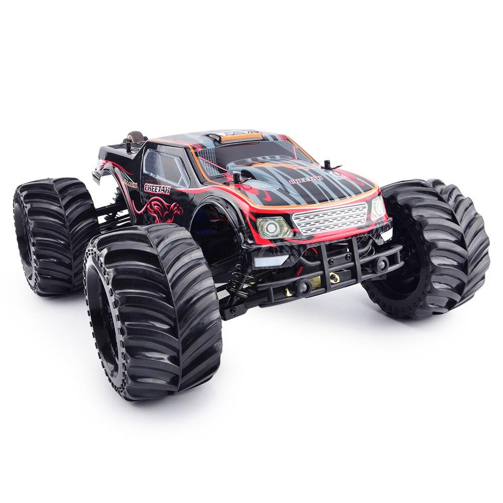 JLB Racing 11101 CHEETACH 1:10 Brushless RC Monster Truck RTR 80 km/h/HOBBYWING Étanche 120A ESC/FS- GT2E Émetteur