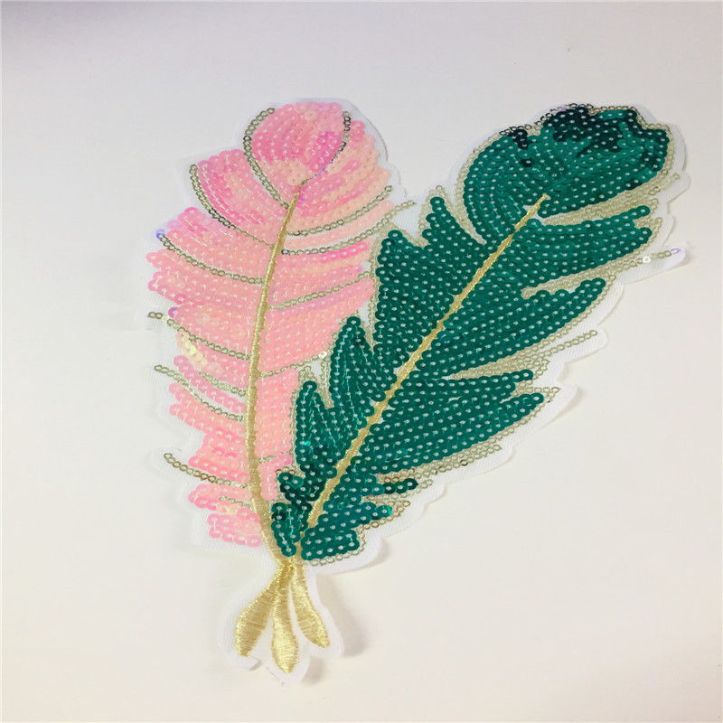 2019 New Fashion DIY Applique Embroidery Applique Costume Decoration Dimensional Decal Bead Piece Feather