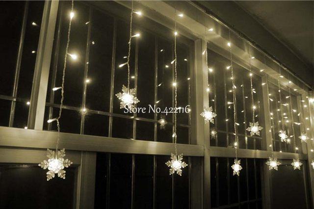 Superb YIMIA 3.5M Snowflake LED Curtain Lights Icicle Fairy String Christmas  Holiday Lights Gerlyanda New Year Wedding Party Decoration Good Looking
