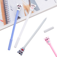 1pcs/lot Student Kawaii reward Gifts 0.5mm lovely lucky cat gifts gel pen signature pen party favor(China)
